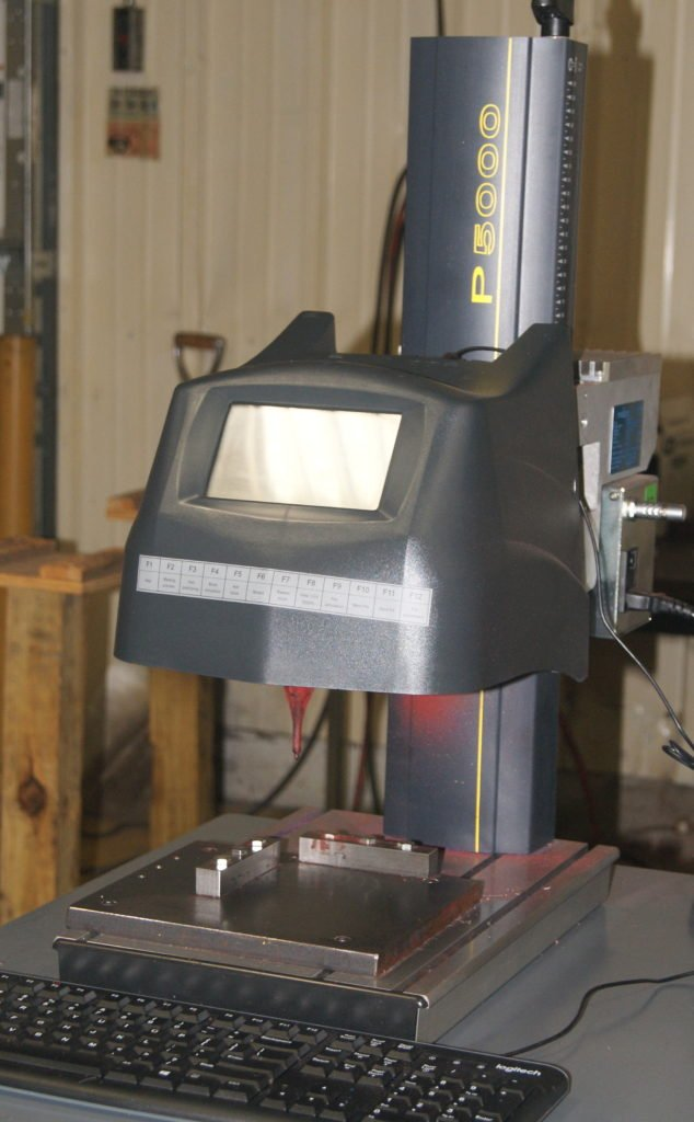 Propen P5000 marking machine at Roberts Machine Products, West Liberty, Ohio